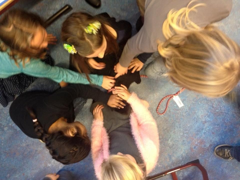 Wat hebben we al leuke dagen gehad samen! Puppy's van juf Dinie in de klas, zwarte pietjes knutselen en een leuke reken spelles! Wat een gezelligheid! :D