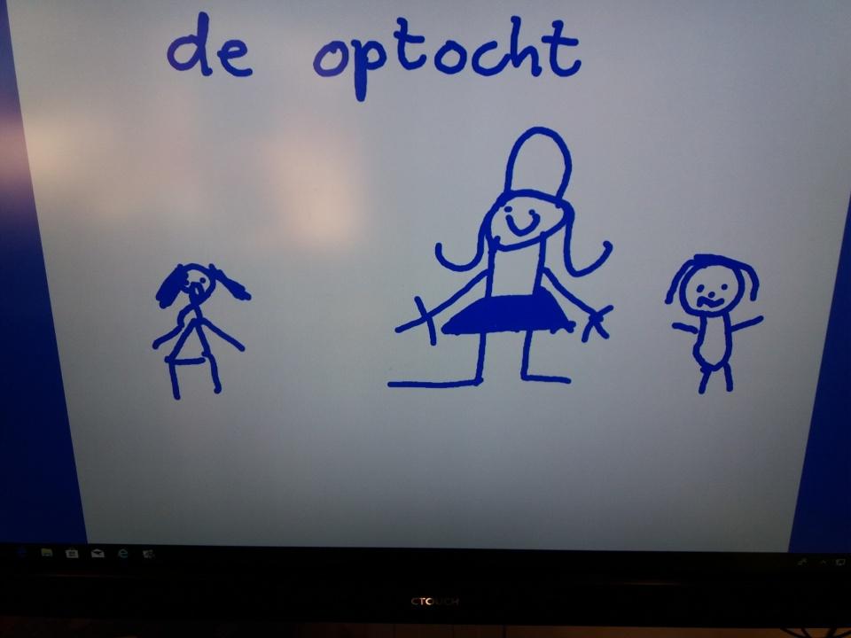 Maandag 12 november zijn we gestart met het thema Muziek. De kinderen zijn enthousiast in een optocht door de school gelopen. Ze mochten een muziekinstrument uit de verjaardagskist pakken en daarop spelen. Iedereen in de school weet nu met welk thema wij bezig zijn! Vanmiddag gingen de kinderen een optocht tekenen.