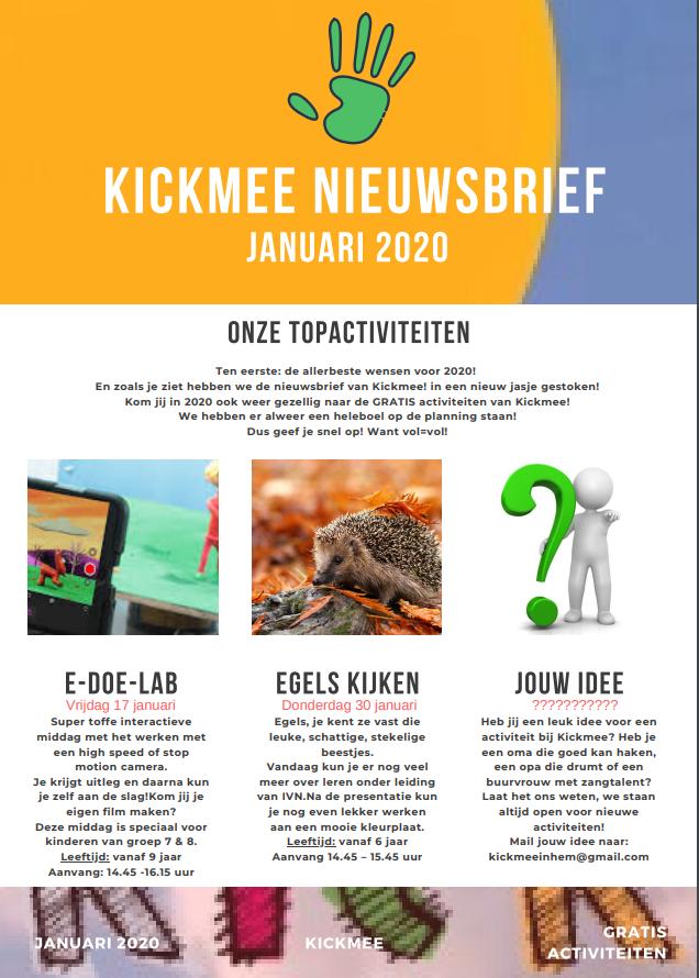 Kickmee januari 2020