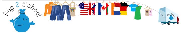 14 juni as. worden de (kleding)zakken voor Bag2school weer opgehaald. U kunt op woensdag 13 juni en donderdag 14 juni ('s ochtends) de tassen en zakken weer op school brengen. Ook opa's, oma's, buren, kennissen etc mogen tassen met kleding, knuffels, schoenen,..... inleveren natuurlijk!
